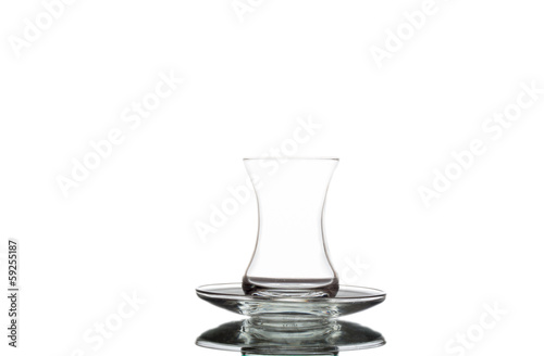 Empty Turkish Tea Glass