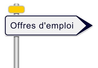 Panneau direction offres d'emploi