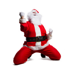 jubelnder Weihnachtsmann
