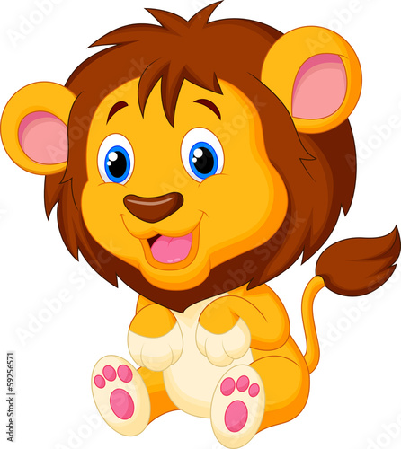 Cute young tiger cartoon