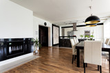 Urban apartment - white and black interior