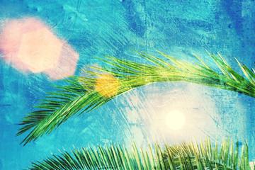 palm leaf grunge