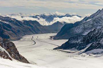 Вид на ледник Алеч