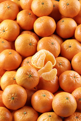 a lot of tangerines