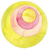 Abstract circle watercolor painting