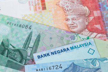 Malaysian money ringgit banknote close-up