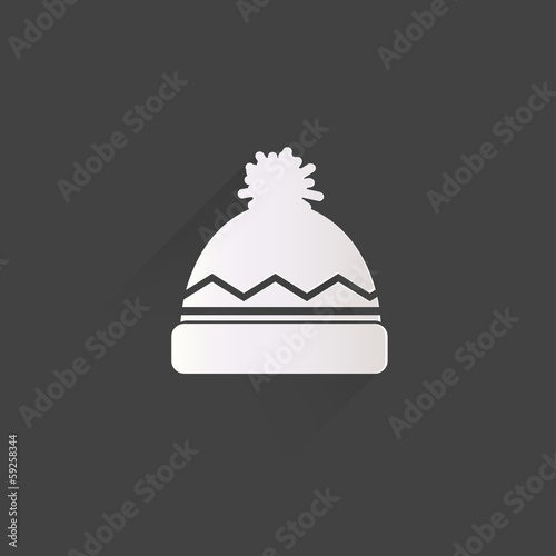 Winter snowboard cap icon