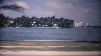 Florida Ocean Beach And Hotel-1961 Vintage 8mm film