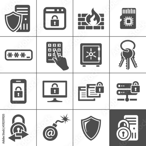 IT Security icons. Simplus series