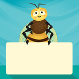 Bee and empty horizontal plate