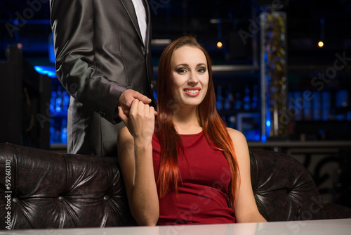 Portrait of a successful woman in a nightclub