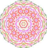 symmetry colorful pattern poster