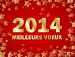 """CARTE """"MEILLEURS VOEUX 2014"""" (joyeuses fêtes bonne année)"""
