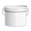 Seau plastique blanc anse métal - 59261312
