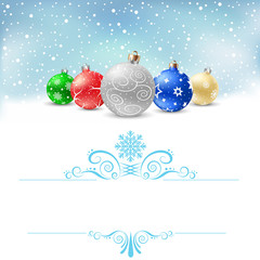 christmas bauble snow pattern