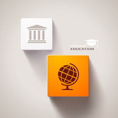 Educational concept. Eps10 vector