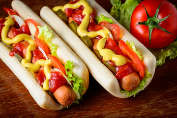 traditional homemade hotdogs