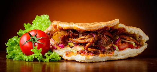 kebab and vegetables