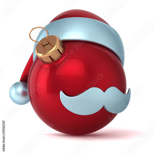 Christmas ball Santa Claus hat New Years Eve bauble red