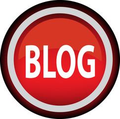 Красная векторная иконка с надписью BLOG