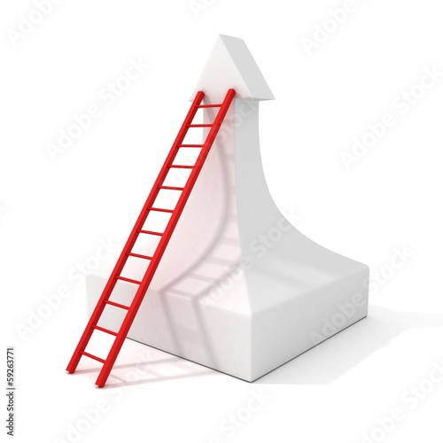 staircase success ladder to the top of growing arrow