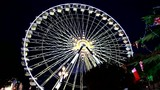 Christmas market and ferris wheel in Nice, France