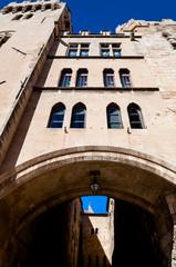 Palais des Archeveques passage arc at Narbonne in France