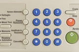 FRONT VIEW OF A FAX NUMBER BUTTONS