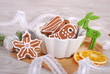 christmas gingerbread cookies in a bowl