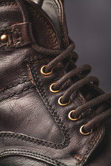 men's boot closeup