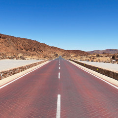 Red road in Tenerife