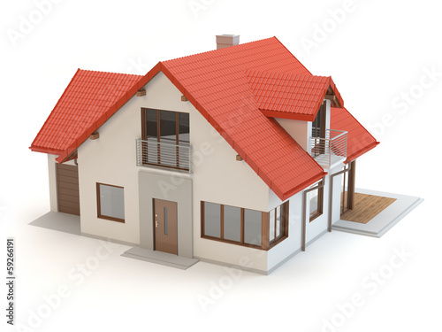 House - white background