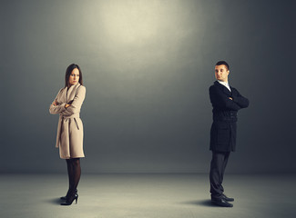 man and woman in quarrel