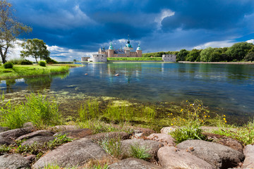 Historical Kalmar castle in Sweden Scandinavia Europe. Landmark.