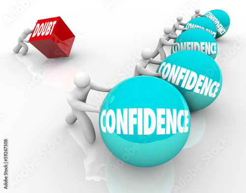 Confidence Vs Doubt Race Competition Good Positive Attitude Wins