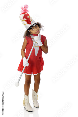 Young Majorette Contemplating