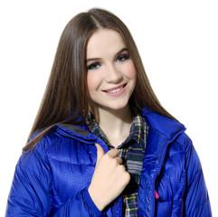 Shot of young girl posing in studio