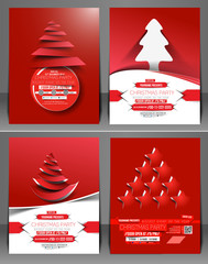 Set of Christmas Party Flyer & Poster Cover Template