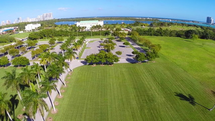 Aerial footage of Florida International University