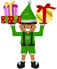 Kid Christmas Gift Elf