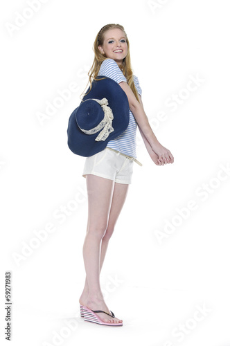 Full body Young smiling girl