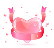 Pink Heart and Ribbon