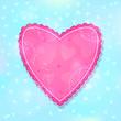 Pink Ruffled Heart