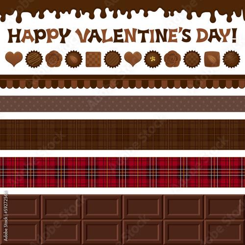 バレンタイン チョコレート 広告 バナー イラスト