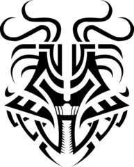 Dragon mask Tribal.Fiery dragon symbol