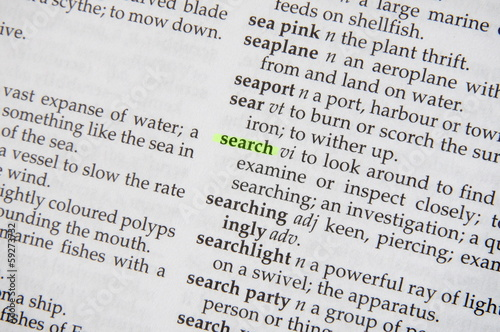search in dictionary