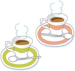 二つのコーヒーカップ