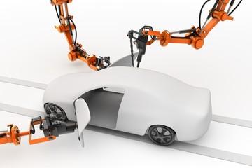 Fahrzeugmontage am Fließband