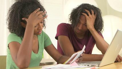 Black couple worried over bills