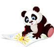 Cute panda drawing picture